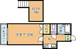 ジョイフル養福寺[2階]の間取り