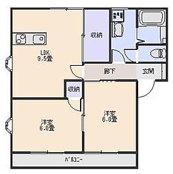 パールテールエム[2階]の間取り