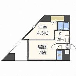 パークヒルズ東札幌[4階]の間取り