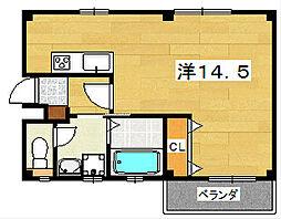 大阪府交野市私部西3丁目の賃貸マンションの間取り