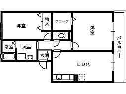 ハイカムール21[3階]の間取り
