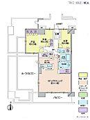 3LDK・専有面積85.58平米・バルコニー面積14.25平米・ルーフバルコニー面積34.94平米