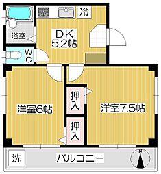 池田ビル 2階2DKの間取り