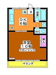 コーポ町田[202号室]の間取り