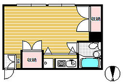 JIYUGAOKA FUKI[2階]の間取り