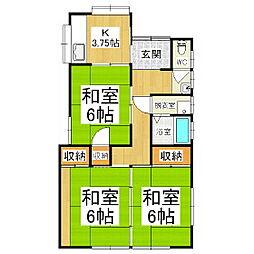 [一戸建] 長野県松本市大字里山辺 の賃貸【長野県 / 松本市】の間取り