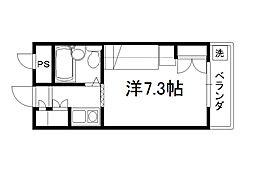 セレーネ田辺4[4階]の間取り