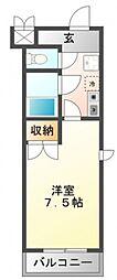 セレクト江坂[8階]の間取り