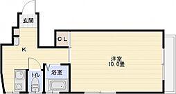 ホープハウス 3階1Kの間取り