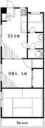 マノビル[3階]の間取り