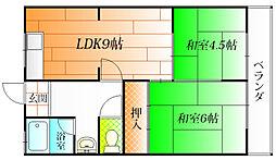 植田マンション[2階]の間取り