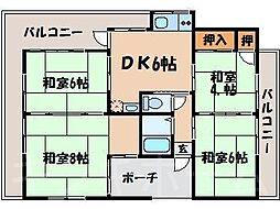 広島県広島市安芸区矢野東7丁目の賃貸アパートの間取り