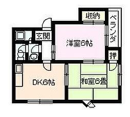 兵庫県伊丹市柏木町2丁目の賃貸マンションの間取り