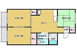 セジュール高井[2階]の間取り