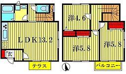 [テラスハウス] 東京都葛飾区東水元2丁目 の賃貸【東京都 / 葛飾区】の間取り