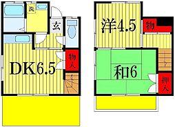 [テラスハウス] 千葉県船橋市前貝塚 の賃貸【千葉県 / 船橋市】の間取り