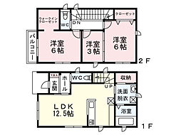 福岡県北九州市門司区高田1丁目の賃貸アパートの間取り