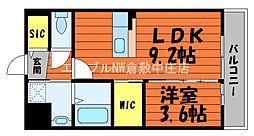 仮)ピースリー昭和 2階1LDKの間取り