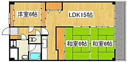 トーカンマンション国分[10階]の間取り