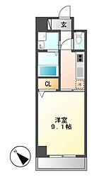 パラシオン車道西館[5階]の間取り