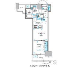 東京メトロ有楽町線 豊洲駅 徒歩9分の賃貸マンション 13階1LDKの間取り
