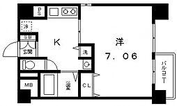 クレアートアドバンス大阪城南[6階]の間取り