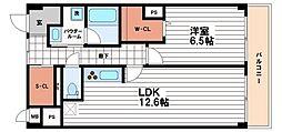 大阪府大阪市天王寺区空堀町の賃貸マンションの間取り