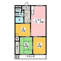 マンションタカクワ[2階]の間取り