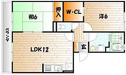 リベルテSII[1階]の間取り