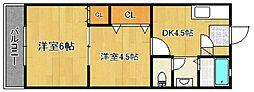浜武シティービル[2階]の間取り
