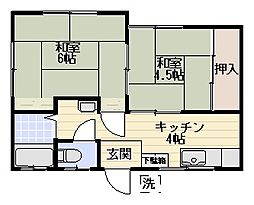 早川コーポII[201号室]の間取り