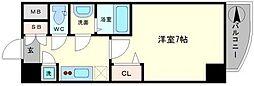 レジュールアッシュ難波MINAMI− II[10階]の間取り