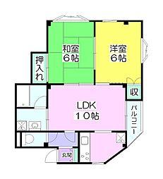 ロイヤルタウン[3階]の間取り