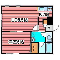 LAHAINA[3階]の間取り