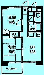 カピトール川崎I[3階]の間取り