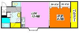 プリムローズ・八戸ノ里 206号室[2階]の間取り