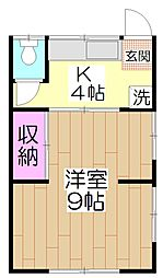 木村荘[202号室]の間取り