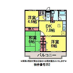 千葉県佐倉市王子台2丁目の賃貸マンションの間取り