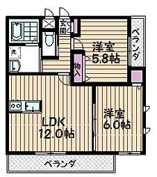 埼玉県さいたま市浦和区常盤6丁目の賃貸マンションの間取り