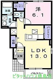 ミルト西新浜 II[1階]の間取り