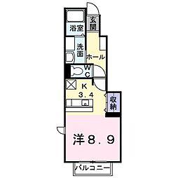 レジデンスM2[1階]の間取り