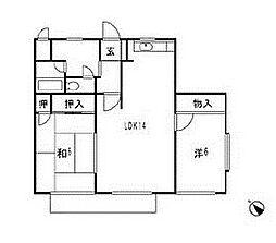 共和カワベマンション[1階]の間取り