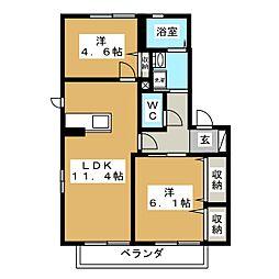 ボナールゴトウ弐番館 A[2階]の間取り