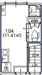 サークルハウス貫井[104号室]の間取り