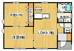 [一戸建] 東京都羽村市羽中1丁目 の賃貸【/】の間取り