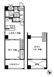 ブリランテ[4階]の間取り