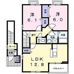 ファイン・ローゼA[2階]の間取り