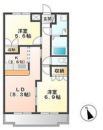 KASUMIヒルズ[2階]の間取り