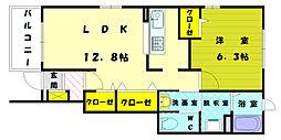 エンゼルパーク壱番館[1階]の間取り