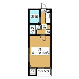 ボナール東高円寺 3階1Kの間取り